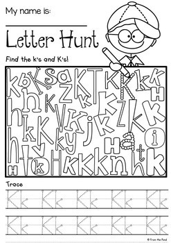 letter hunt worksheets {alphabet} by from the pond tptletter hunt worksheets {alphabet}