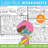 Letter Hunt Worksheets {Alphabet}