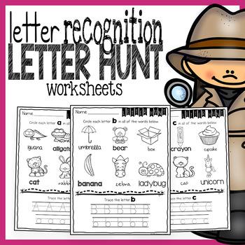 Letter Recognition Worksheets - No Prep Printables