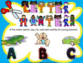 Letter Hunters - A search, say, cut, and color activity fo