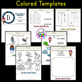 Letter I Alphabet Flip Book (Alphabet Interactive Notebook Activities)