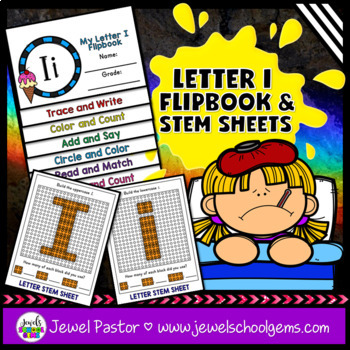 Letter I Alphabet Interactive Notebook Activities Flipbook