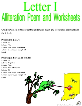 Letter I Alliteration Set