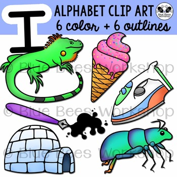 Letter I Clip Art Alphabet / Beginning Sound I