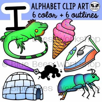 Letter I Clip Art Alphabet / Beginning Sound I