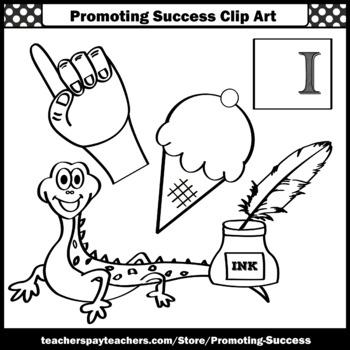 Letter I Clipart, Alphabet Clip Art, Letter Sounds SPS