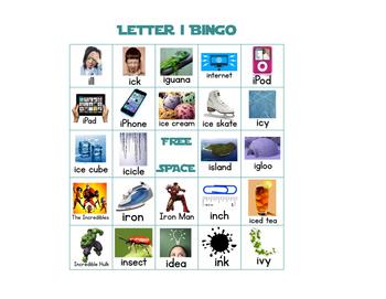 Letter I Bingo