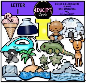 Letter I Clip Art Bundle {Educlips Clipart}