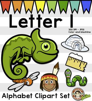 Alphabet Clip Art: Letter I Phonics Clipart Set - Clip Art