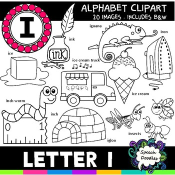 Letter I Clipart - 20 images! For Commercial and Personal Use!