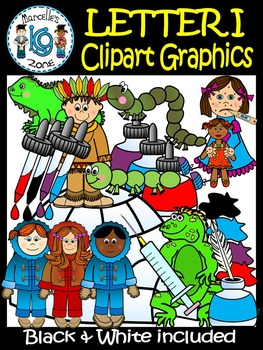 Letter I- Clipart Graphics- Commercial & Personal Use