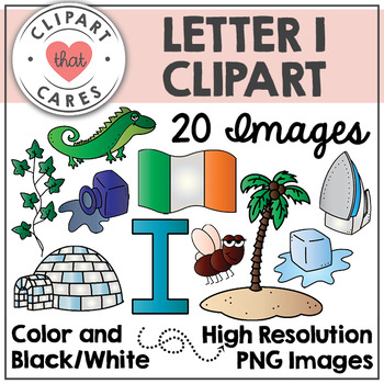 Letter I Alphabet Clipart by Clipart That Cares