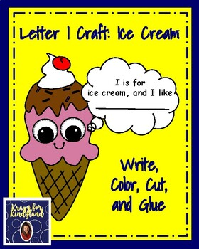 Letter I Craft: Ice Cream Craft