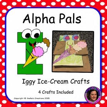 Letter I Craft: Iggy Ice-Cream Alpha Pal