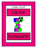 Letter I Craftivity - Inchworm - Zoo Phonics Inspired - Co