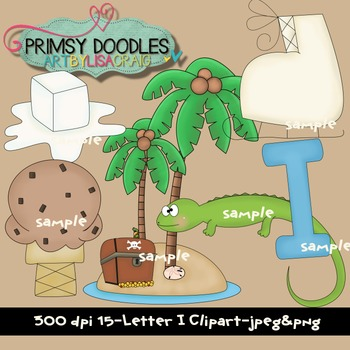 Letter I Early Learning Clipart