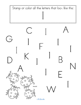 Alphabet I Letter of the Week Phonics Recognition, Sound, Tracing & Craftivities