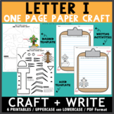 Letter I One Page Paper Crafts - Insect and Island