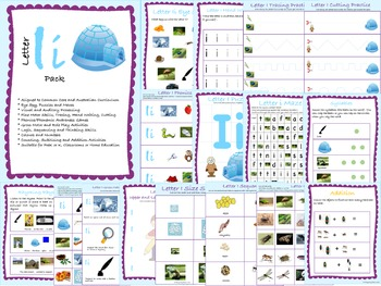 Letter of the Week Pack: I (Incorporating Literacy, Math, Science & Humanities)