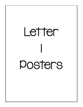 Letter I Posters