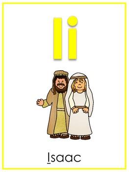 Letter I Printable Bible Alphabet Poster. Preschool-Kindergarten Phonics.