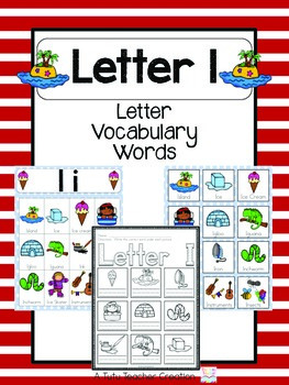 i letter words letter i vocabulary cards by the tutu teachers 22514 | original 2155380 1