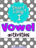 Vowel Activities for Short I and Long I