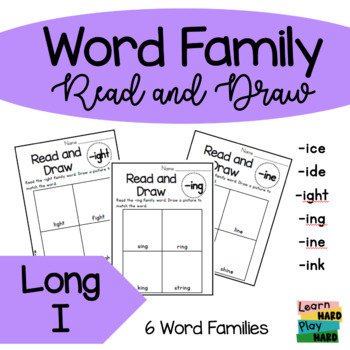 Long I Word Family Read and Draw- Pack 2
