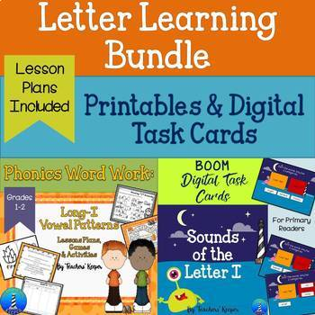 Letter I Word Work Digital and Printable Bundle