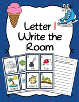 Letter I Words Write the Room Activity