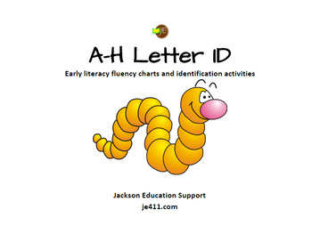 Letter ID (A through H) - Discrimination activities and fluency charts