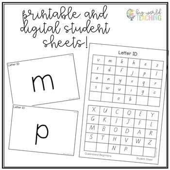 Letter ID Assessment and Individual Student Tracking (Digital Option)