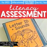 Letter ID + Beginning Letter Sound Assessment - Literacy Reading Assessment