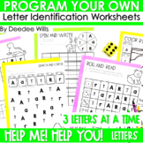 Letter ID intervention ~ Editable!  Help Me! Help You!