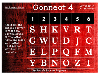 Letter ID or Sound Connect 4