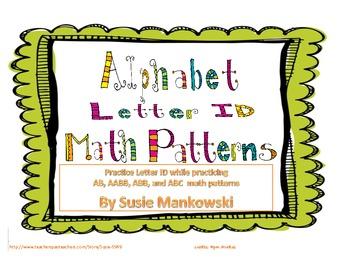 Letter ID using Alphabet Math Patterns