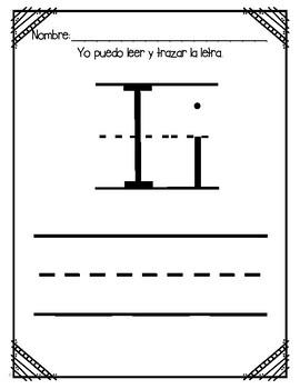 Aprendiendo la letra i