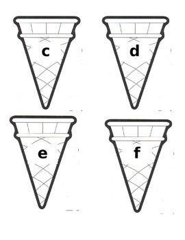 Letter Ice Cream Match
