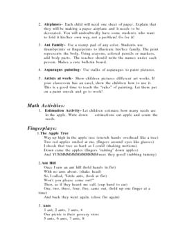 Letter Ideas for A D F H P