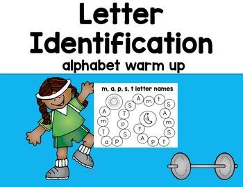 Letter Identification- Alphabet Warm Up (Editable)