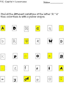 """Letter Identification """"A"""""""