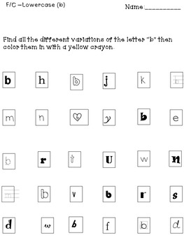 "Letter Identification ""A-Z"""