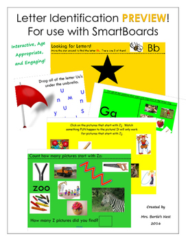 Letter Identification Activities for SmartBoard