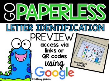 Letter Identification Activities using Google Slides PREVIEW