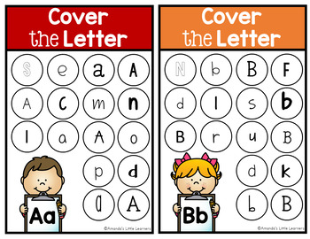 Letter Identification Activity Boards