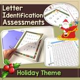 Letter Identification Assessment - Holiday Theme