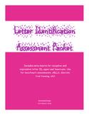 Letter Identification Assessment Packet