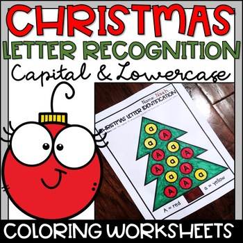 Letter Identification Christmas Coloring Pages for Kindergarten