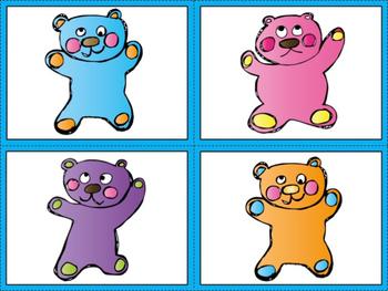 Letter Identification Gummy Bear Game