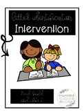 Letter Identification Intervention